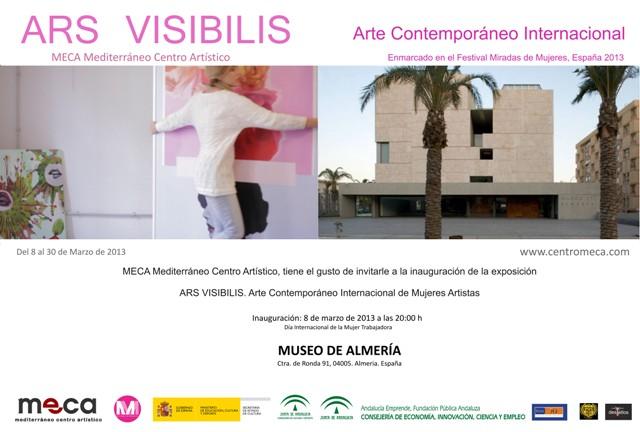 Invitacion inauguracion ARS VISIBILIS en Museo de Almeria